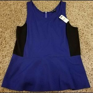 BNWT Express peplum top Large